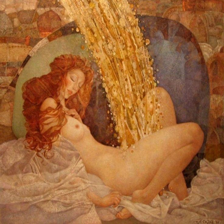 zeus pratica la pioggia dorata su diana