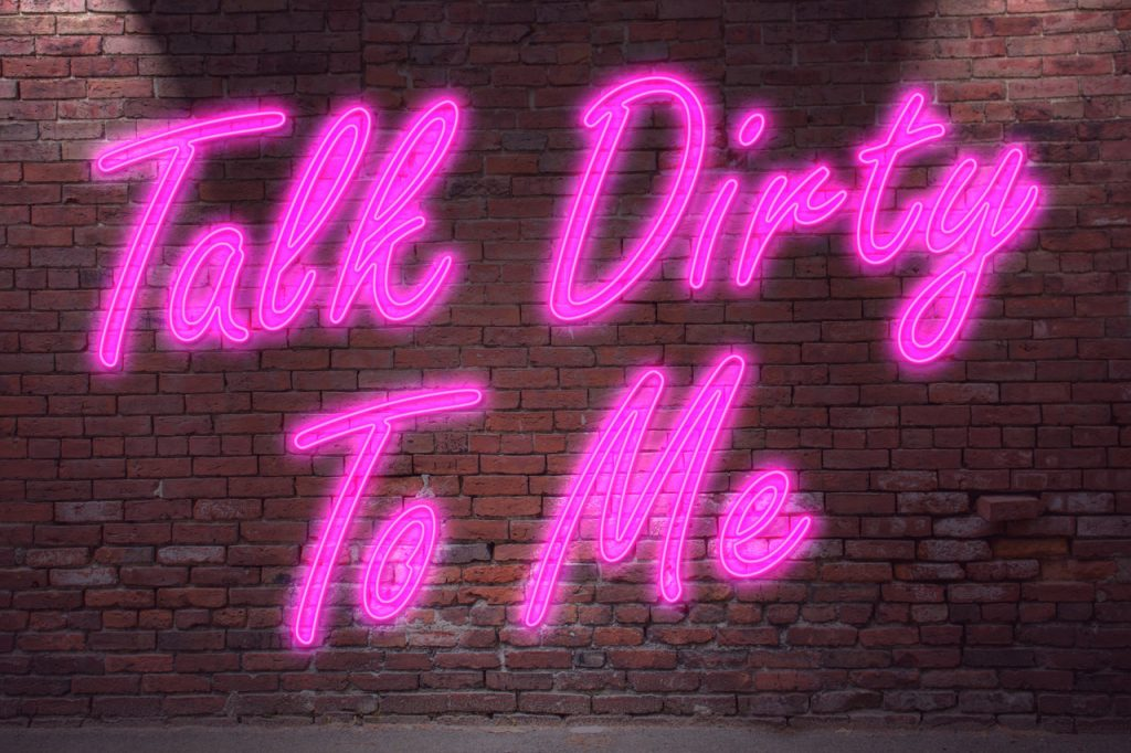 Talk Dirty To Me Neon