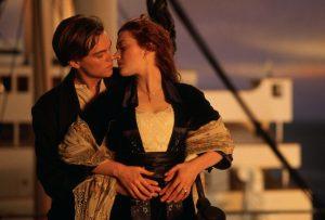 titanic scena del bacio