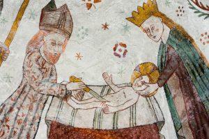 scena di affresco in cui Gesù viene circonciso