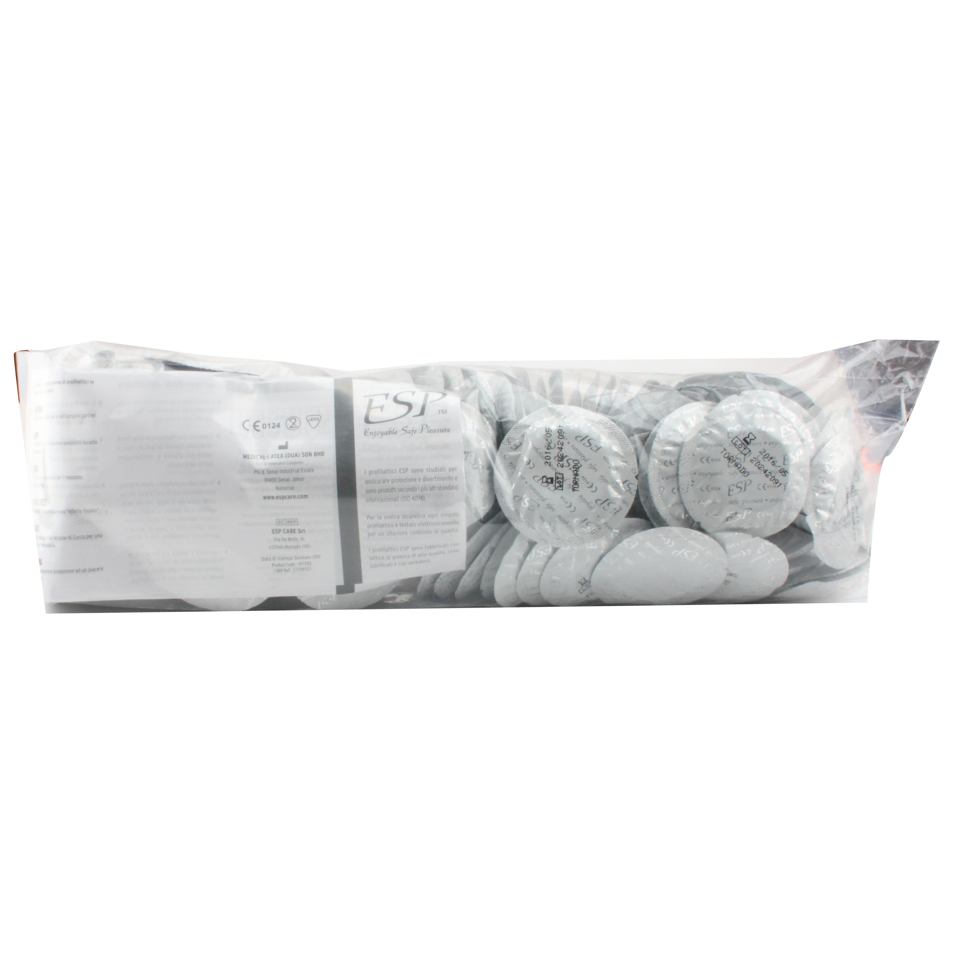 Esp esp tornado - 144 pezzi - preservativi stimolanti