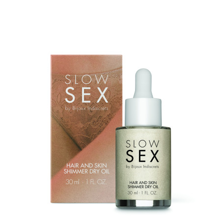 Olio secco Slow Sex - Hair and Skin Shimmer Dry Oil Bijoux Indiscrets