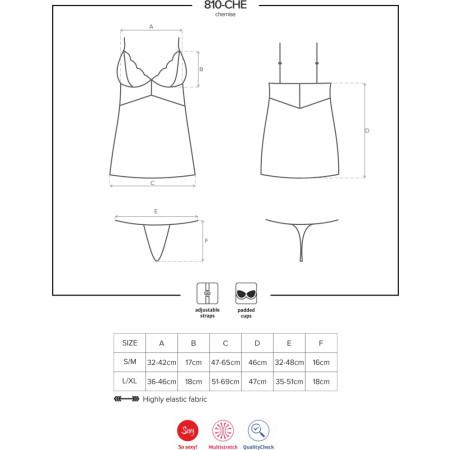 Mini abito sexy 810-CHE Chemise Obsessive