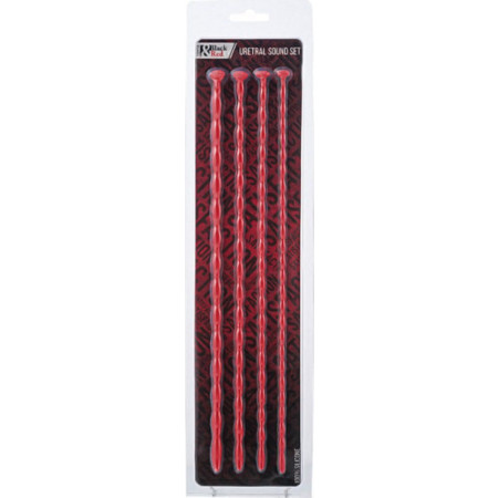 Plug uretrale 901406-9 Uretral Sound Set Black&Red