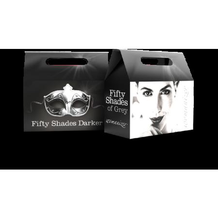 Kit succhiaclitoride e manette FSOG/Womanizer Package