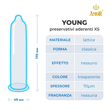 Preservativi XS aderenti Young Amor