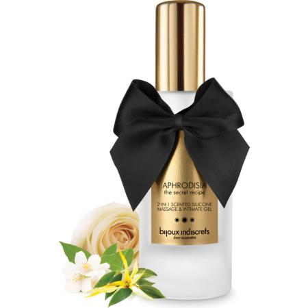 Olio da massaggio Aphrodisia 2 in 1 Scented Silicone Massage e Intimate Gel Bijoux Indiscrets