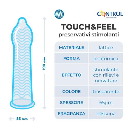 Control 2in1 Touch&Feel Easy Way: preservativi stimolanti con applicatore