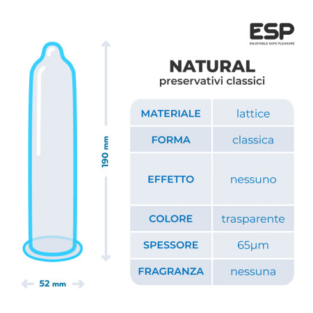 Esp Natural - preservativi classici