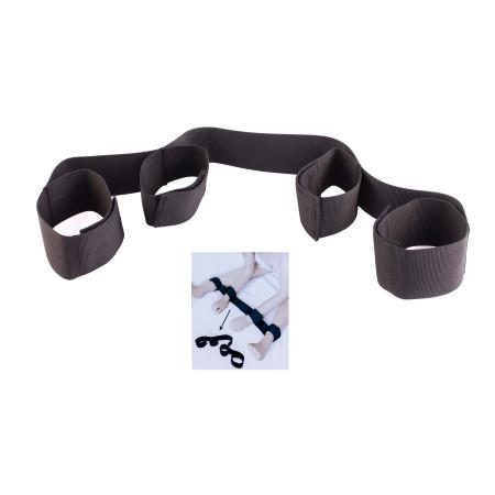 Bow For Me Bondage Art fascia con cavigliere e polsiere