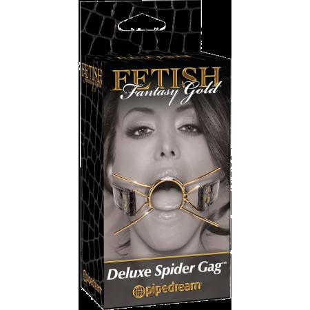 Mouth gag Gold Deluxe Spider Gag Fetish Fantasy