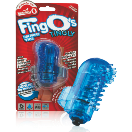 Stimolatore clitoride da dito FingO Nubby Screaming O