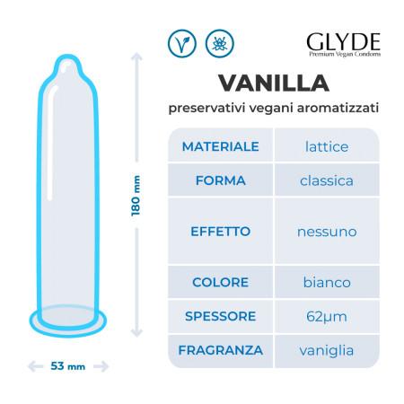 Preservativi vegani alla vaniglia Ultra Vanilla Glyde
