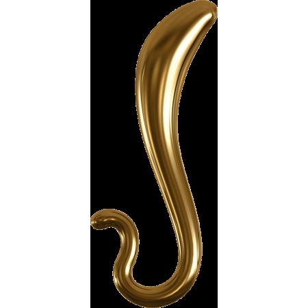Pipedream Icicles G02 Gold Edition - dildo in vetro