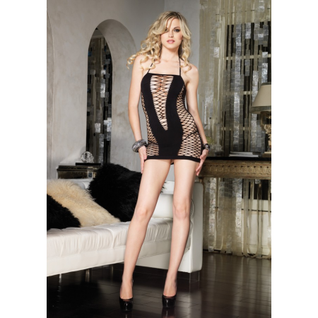 Leg Avenue Halter Mini - abito sexy a rete