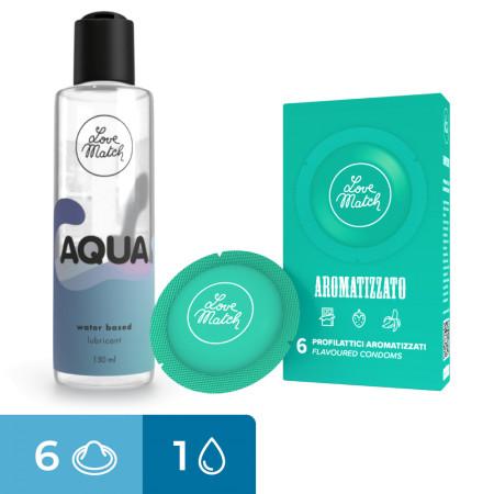 Bundle Love Match Aqua + 6 preservativi aromatizzati