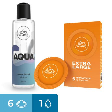 Bundle Love Match Aqua + 6 preservativi extra large