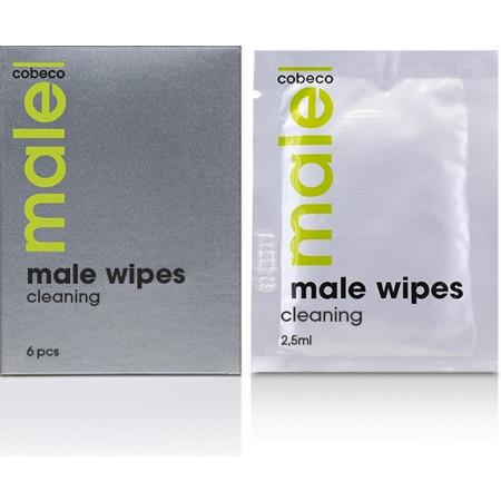 Salviettine detergenti per uomo MALE Cobeco Wipes Cleaning