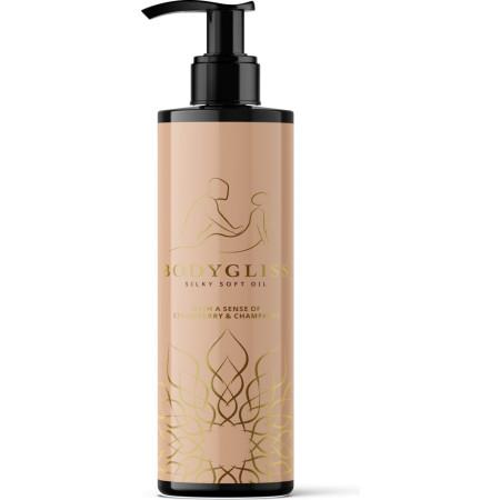 Olio da massaggio al silicone Bodygliss Silky Soft Oil Strawberry&Champagne - 150ml