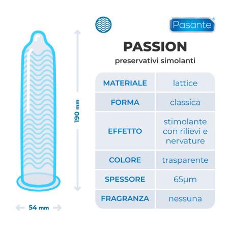 Pasante Passion (ex Ribbed) - preservativi stimolanti
