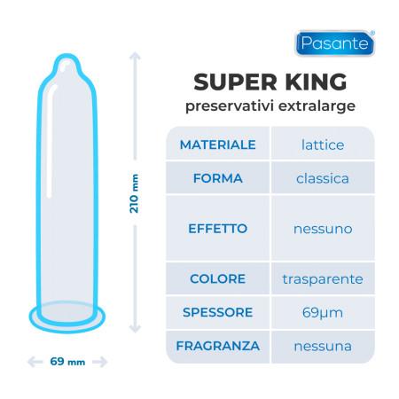 Preservativi extralarge Super King PasantePreservativi extralarge Super King Pasante