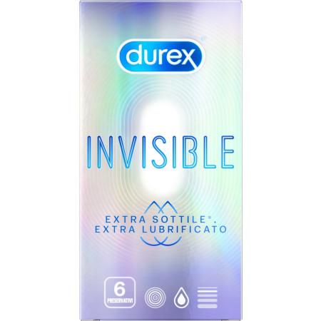 Preservativi ultrasottili Invisible Extra Lube Durex