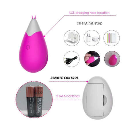 Ovetto vibrante Vibroegg Remote Control Egg A - Toys