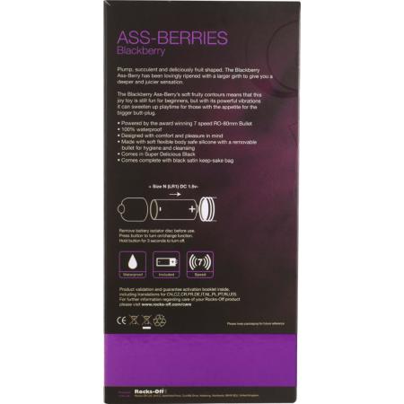Butt plug vibrante Assberries Blackberry Rocks-Off