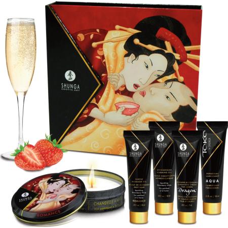 Kit del piacere Geisha Secret Kit -  Sparkling Wine Strawberry Shunga