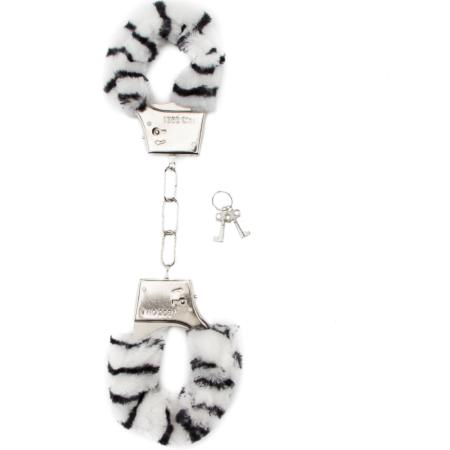 Manette sexy con peluche Furry Handcuff Zebra Shots Toys