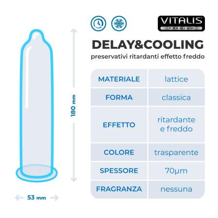 Preservativi ritardanti effetto freddo Delay&Cooling Vitalis