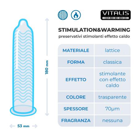 Preservativi stimolanti Stimulation e Warming Vitalis