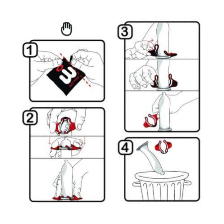 Wingman - preservativi ultrasottili con le ali istruzioni 2