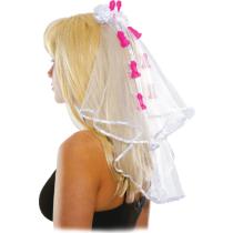 Velo da sposa Pecker Clip Veil Bachelorette Party favors