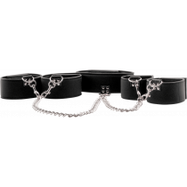 Ouch! Reversible Collar/ Wirst/ Ankle Cuffs - set collare caviglie polsi