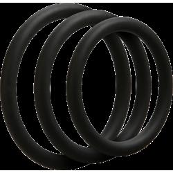 Doc Johnson 3 C-Ring Set Thin - set cockring