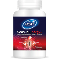 Akuel Sensual Energy+ è il nuovo integratore alimentare per uomo.