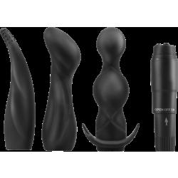 Pipedream Anal Adventure Kit - kit butt plug vibranti