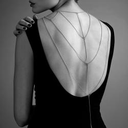 Accessorio Sexy Bijoux Indiscrets Magnifique Back & Cleavage Chain Oro
