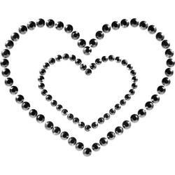 Copricapezzoli Bijoux Indiscrets Mimi Heart Nero