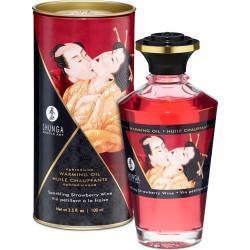 Olio da massaggio edibile Aphrodisiac Oil Wine Strawberry Shunga