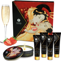 Kit del piacere Geisha Secret Kit -  Sparkling Wine Strawberry Shunga