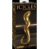 Pipedream Icicles G01 Gold Edition - dildo in vetro