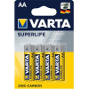 Pile Varta Superlife AA - blister 4 batterie a zinco carbone