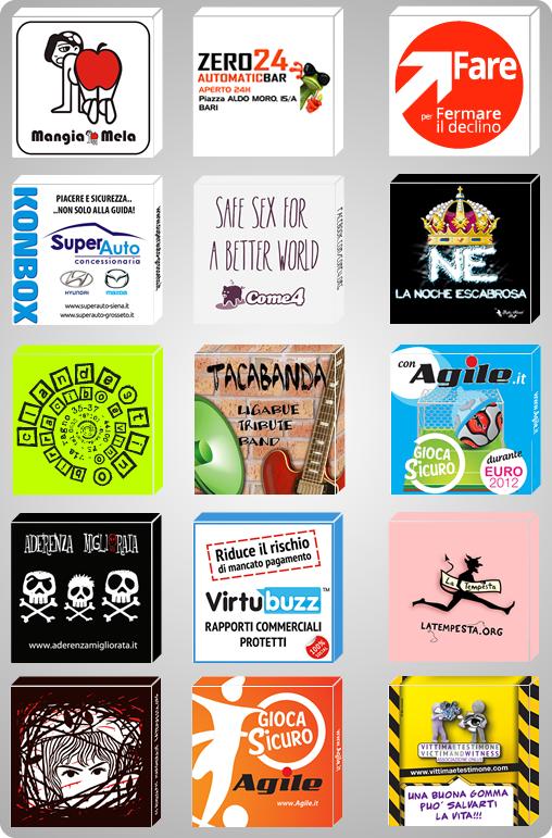 scatolette personalizzate preservativi